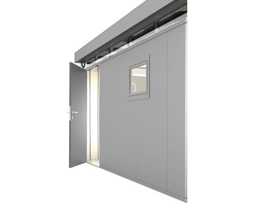 Porte supplémentaire CasaNova gauche, 95x200 cm, argent métallique