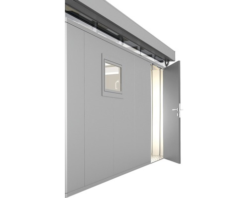 Porte supplémentaire CasaNova droite, 95x200 cm, argent métallique