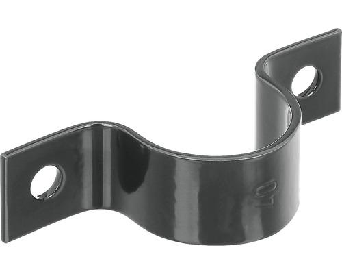 Collier pour tube GAH Alberts pur piquet ⌀ 34mm galvanisé anthracite métallique