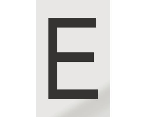 Autocollant lettre «E», alu noir imprimé, 60x100mm-0