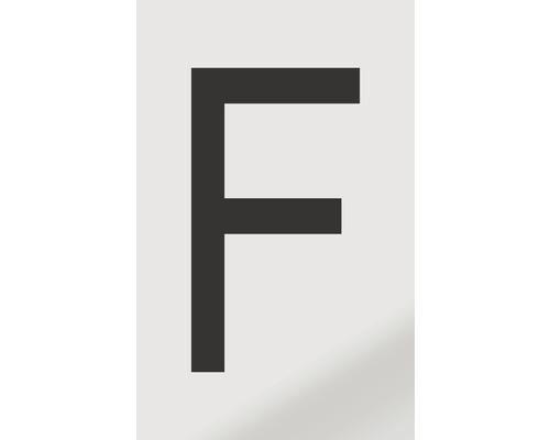 Autocollant lettre «F», alu noir imprimé, 60x100mm-0