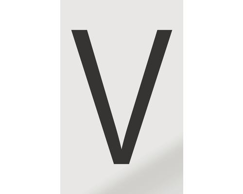 Autocollant lettre «V», alu noir imprimé, 60x100mm-0