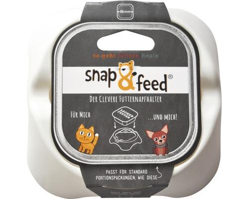 Napfhalter Snap&Feed Adapter 88x88 mm weiß