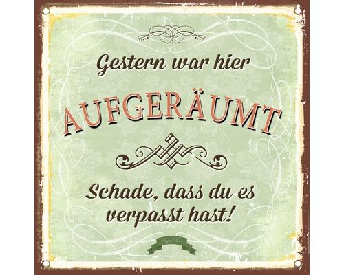 Panneau décoratif Aufgeräumt & Geputzt 30x30 cm
