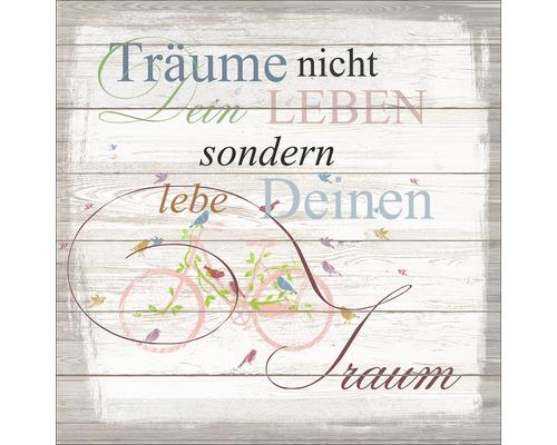 Panneau décoratif Träume & Leben 30x30 cm
