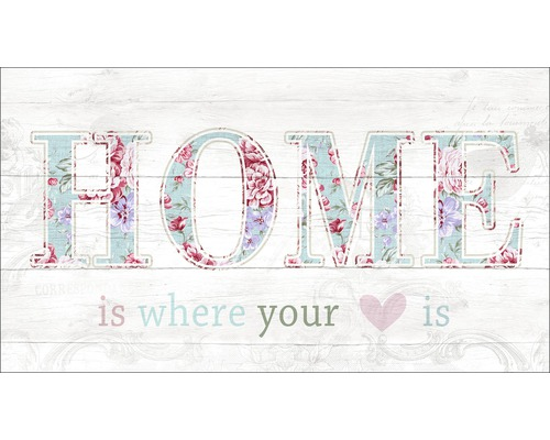 Panneau décoratif Home Is Where Your Heart Is 15x30 cm