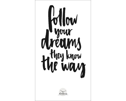 Panneau décoratif Follow Your Dreams 15x30 cm