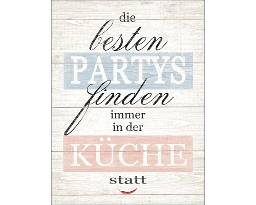 Panneau décoratif Partys & Küche 30x40 cm