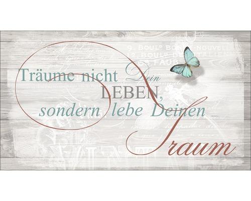 Panneau décoratif Lebe Deinem Traum 15x30 cm