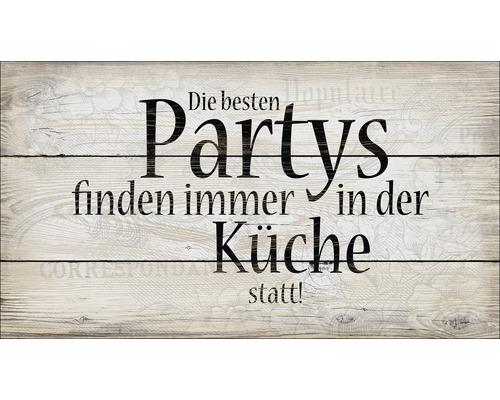 Panneau décoratif Die Besten Partys 15x30 cm