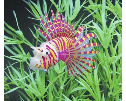 Poisson en silicone orange 10,5 cm pour décoration d''aquarium