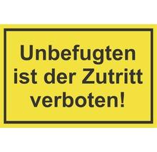 Panneau «Entrée interdite aux personnes non autorisées» 300x200mm-thumb-0