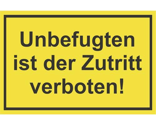 Panneau «Entrée interdite aux personnes non autorisées» 300x200mm-0