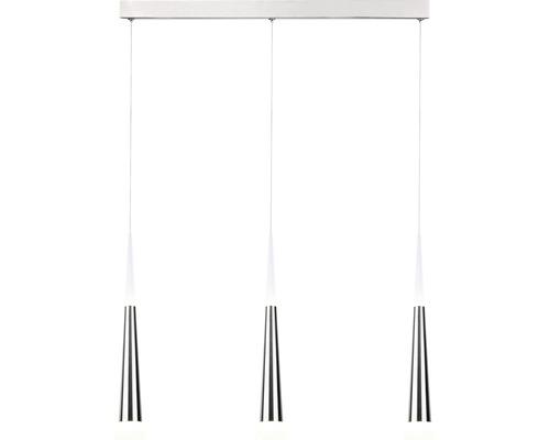 Suspension LED Ely nickel à intensité lumineuse variable 3 ampoules avec ampoules 3x900lm 3000K blanc chaud
