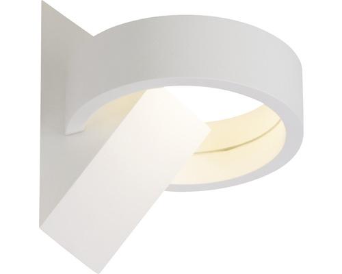 Applique murale LED 6W 630lm 3000K blanc chaud h 121mm Yul blanc