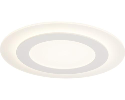 Plafonnier LED à intensité lumineuse variable 28W 2800lm 3000K blanc chaud Ø 350mm Karia blanc