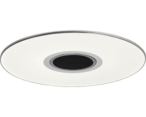Plafonnier LED à intensité lumineuse variable 24W 1700lm 2800-4500K blanc chaud-blanc neutre Ø 480mm Tonic blanc/chrome + haut-parleur + télécommande