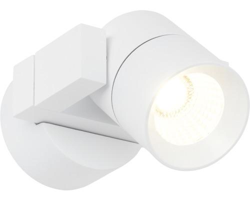 Spot mural à LED Kristos blanc à intensité lumineuse variable 1 ampoule avec ampoule 360lm 3000K blanc chaud l 90mm