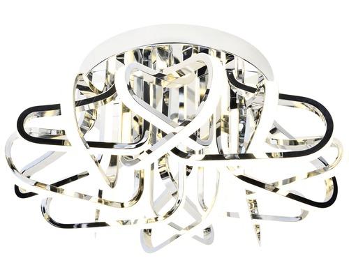Plafonnier LED Kevina chrome à intensité lumineuse variable 1 ampoule avec ampoule 8000lm 3000K blanc chaud Ø 600mm
