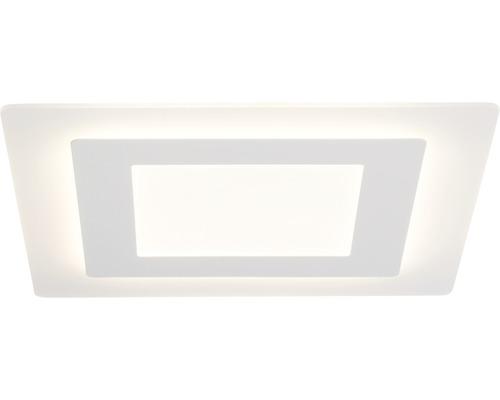 Plafonnier LED Xenos blanc à intensité lumineuse variable 1 ampoule avec ampoule 4600lm 3000K blanc chaud 480x480mm