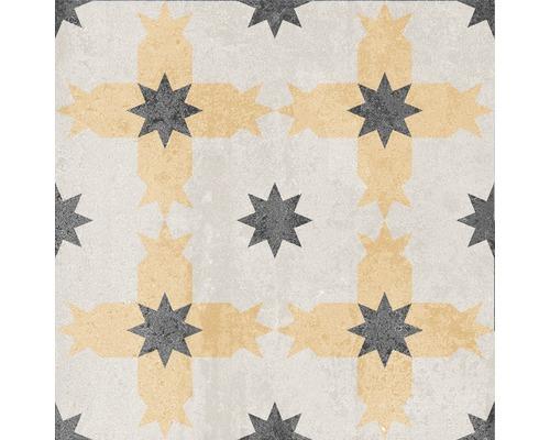 Carrelage décoratif en grès cérame fin Heidelberg Décor 16 18,6x18,6cm
