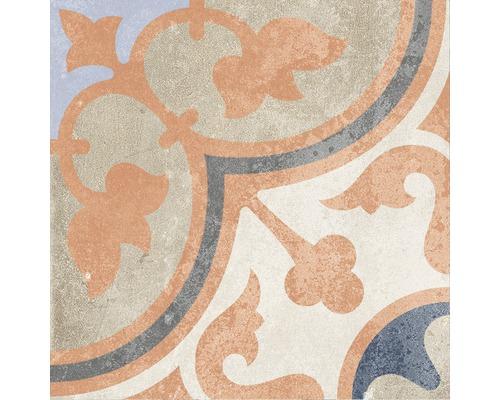 Carrelage décoratif en grès cérame fin Heidelberg Décor 4 18,6x18,6 cm