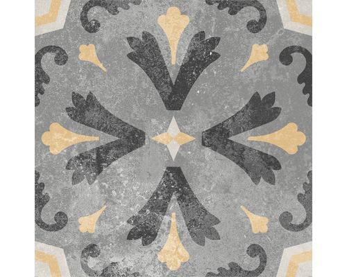 Carrelage décoratif en grès cérame fin Heidelberg Décor 6 18,6x18,6 cm