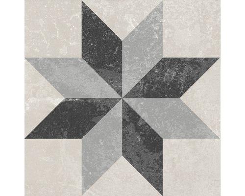 Carrelage décoratif en grès cérame fin Heidelberg Décor 9 18,6x18,6 cm
