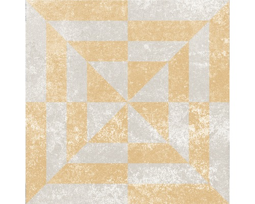 Carrelage décoratif en grès cérame fin Heidelberg Décor 12 18,6x18,6 cm