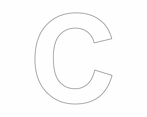 Autocollant lettre «C» blanche 60 mm