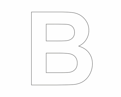 Autocollant lettre «B» blanche 60 mm-0