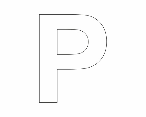 lettre p Autocollant lettre « P » blanche 60 mm   HORNBACH Luxembourg lettre p
