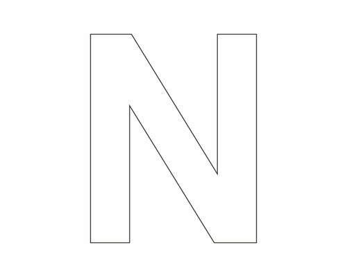 Étiquette portant la lettre «N» blanche 30mm-0