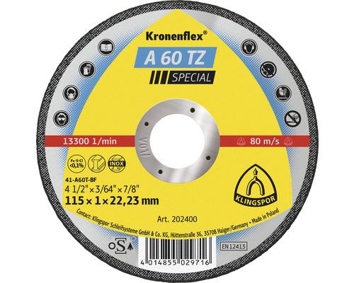 Disque à tronçonner Klingspor A 60 TZ Spécial Ø 115x22.23 mm