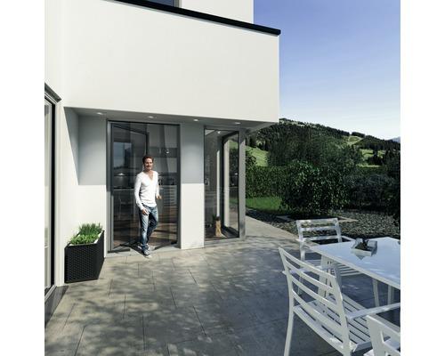 Moustiquaire rideau de porte Easy PLUS sans perçage anthracite 95x220 cm