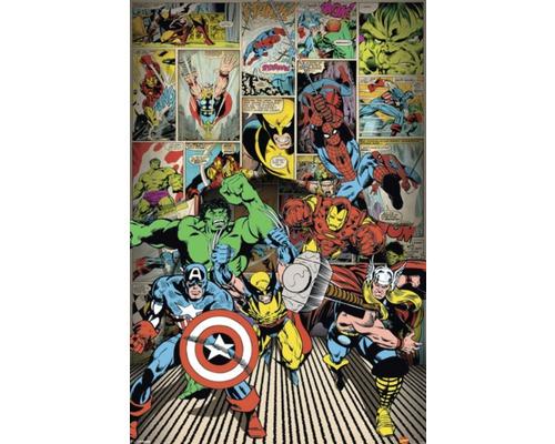 Panneau décoratif Marvel Heroes 60x90 cm