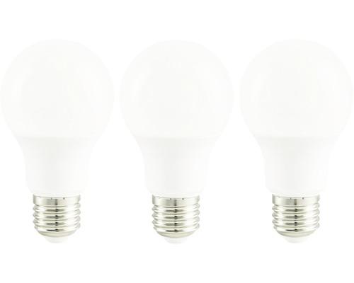 Ampoule LED A60 blanc E27/9,5(60W) 806 lm 2700 K, blanc chaud, 3 pièces