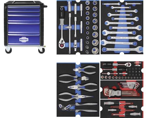 Servante d'atelier Industrial avec 5 tiroirs, incl. 6 modules