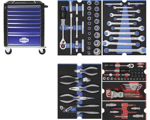 Servante d''atelier Industrial avec 7 tiroirs, y compris 6 modules
