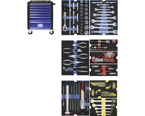 Servante d'atelier Industrial avec 7 tiroirs, 9 modules compris