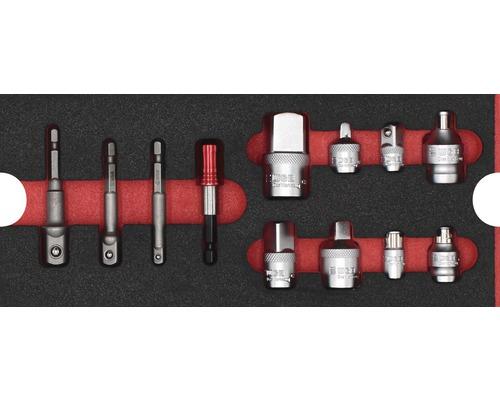 Plateau mousse taille S Industrial jeu d''adaptateurs, 12 pièces