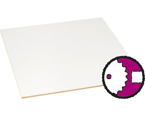 Panneau MDF fin blanc d''un côté 3x1220x2440 mm (découpe possible en magasin)