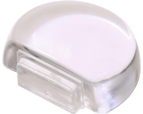 Butoir de porte Deltafix transparent Ø 45mm H 14 mm