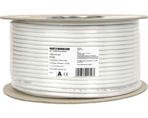 Câble coaxial Kathrein LCD 111 A+ 100 m blanc