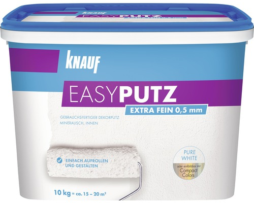 Enduit de décoration Knauf EASYPUTZ 0,5 mm extra fin blanc 10 kg