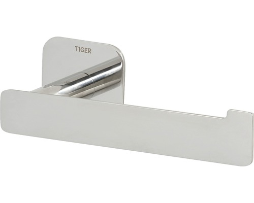 Porte-papier toilette Colar en L, en acier inoxydable poli