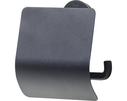 Support de papier toilette Urban avec couvercle noir