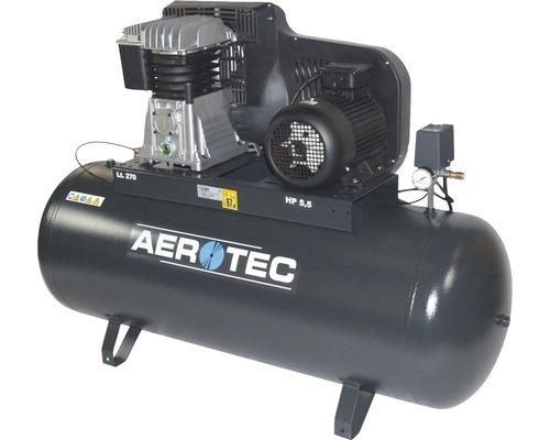 Compresseur Aerotec 650-270 Pro 10 bars à plat - 400 volts