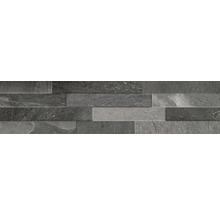 Pierre de parement en grès cérame fin Canyon Black 15 x 61 cm-thumb-0