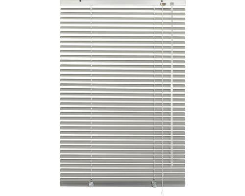 Store vénitien alu sans perçage argent 40x130cm, supports de serrage compris